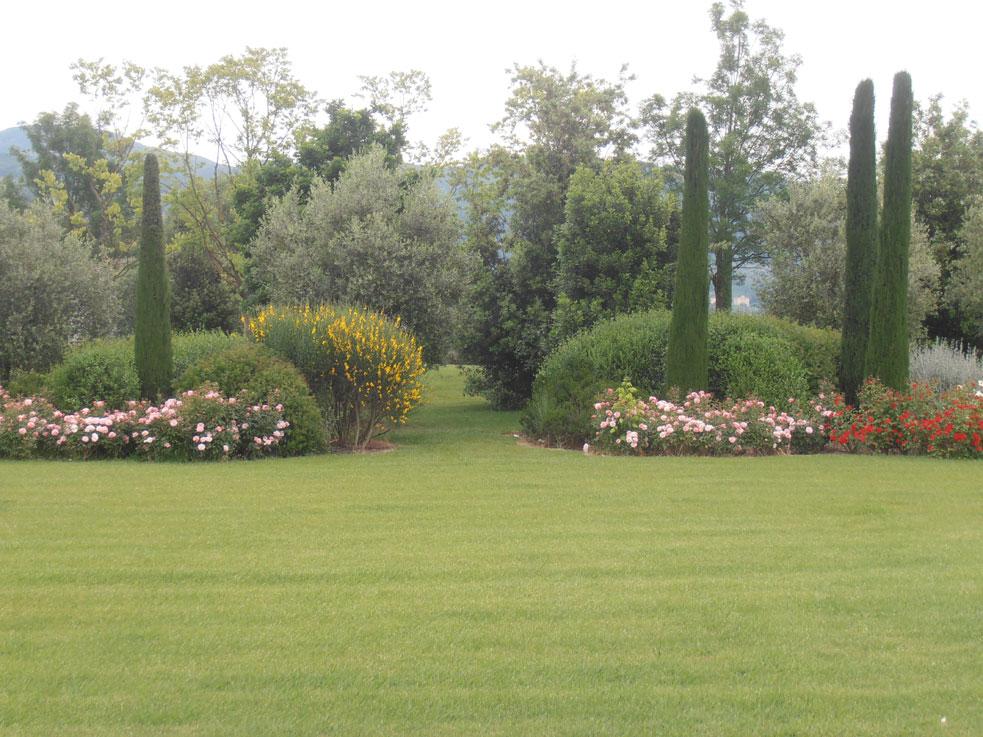 Progettazione e realizzazione giardino in toscana for Arredo giardino toscana