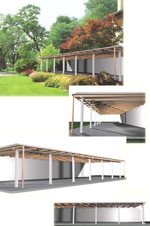 Progettazione e realizzazione tettoie per giardini in toscana - Tettoia giardino ...